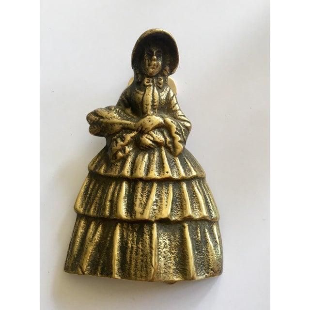 Southern Women Brass Door Knocker For Sale - Image 4 of 4
