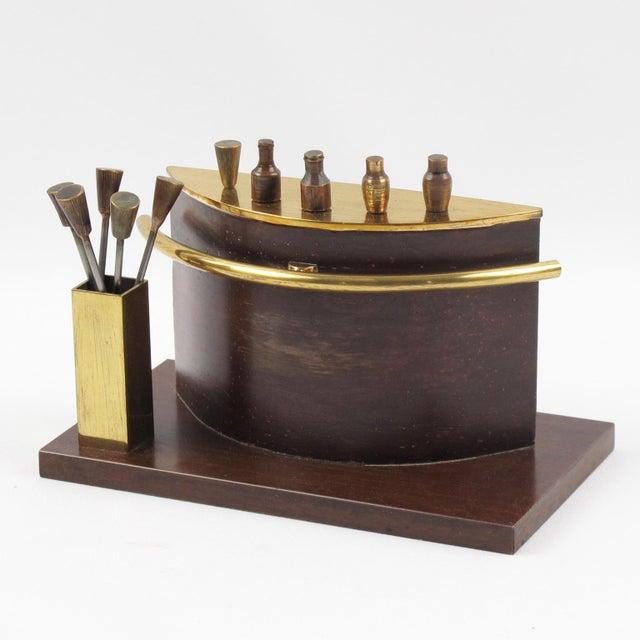 Metal Art Deco 1940s Brass Miniature Bar Cocktail Picks For Sale - Image 7 of 8