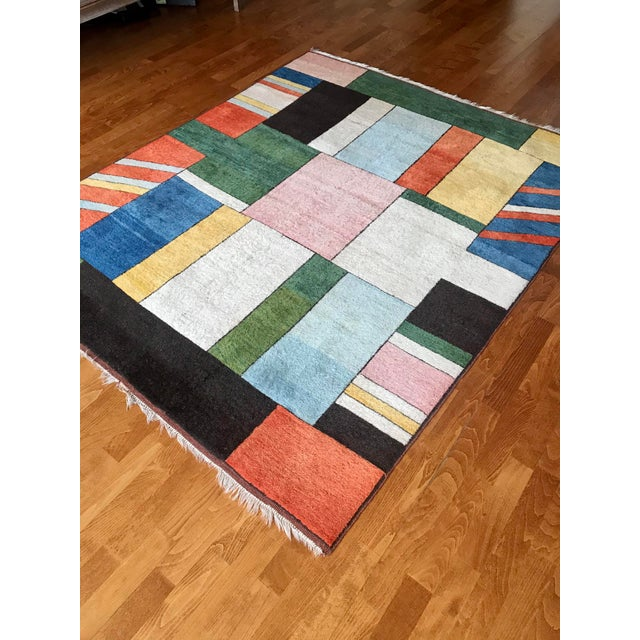 Colorful Turkish Rug, Home Decor, Area Rug 6.6*5.3 Ft. For Sale In Philadelphia - Image 6 of 12