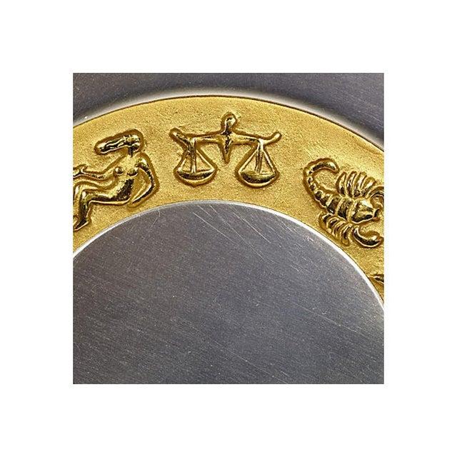 Art Deco Art Deco Aluminum Zodiac Serving Tray For Sale - Image 3 of 6