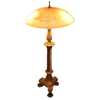 Custom Alabaster Dome Shade Table Lamp For Sale