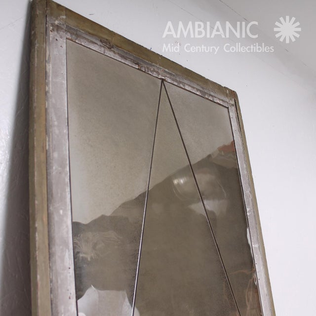 Lovely Antique Distressed French Floor Mirror With Diamond Pattern ...