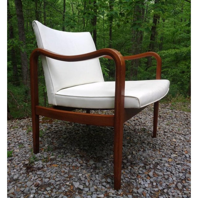 Boho Chic Rare 1960 Barney Flagg for Drexel Parallel Bent Wood Club Chair For Sale - Image 3 of 13