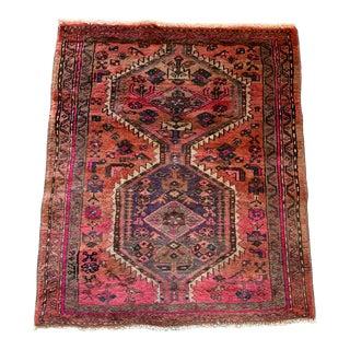 Vintage Persian Serapi Heriz Area Rug- 3′3″ × 3′8″ For Sale