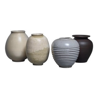 Set of four Jan Bontjes van Beek earthenware vases, Germany For Sale