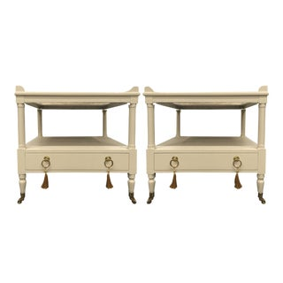 Mid-Century Fine Arts Furniture Co. Tables Newly Painted - a Pair For Sale