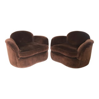 Custom Made Club Chairs - a Pair For Sale