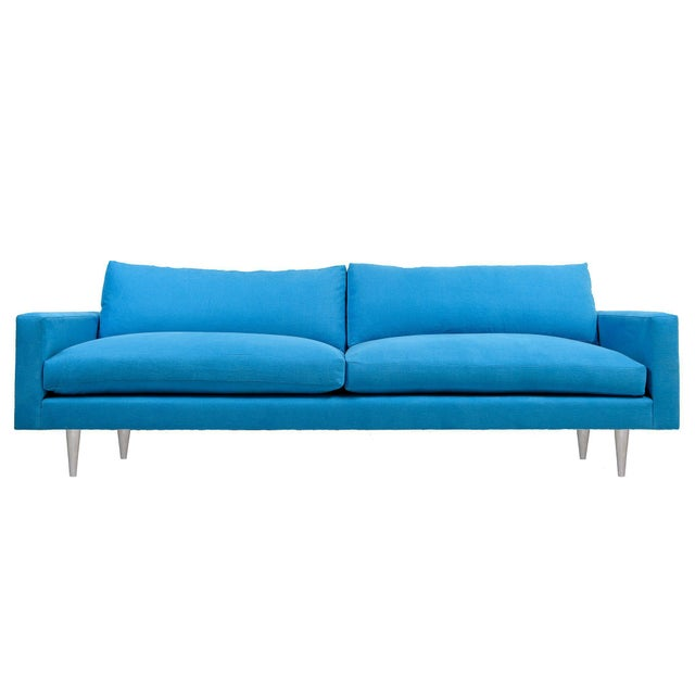 "The Raven 84"" Sofa is a great and fun design for any interior concept. Produced of a solid alder frame and a durable aqua..."