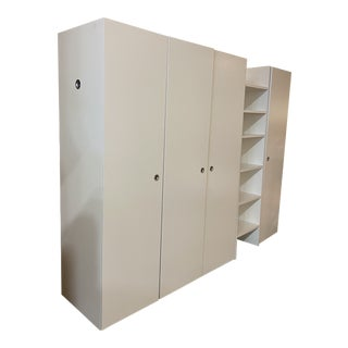 Ligne Roset Tarmac White Five Piece Closet System For Sale