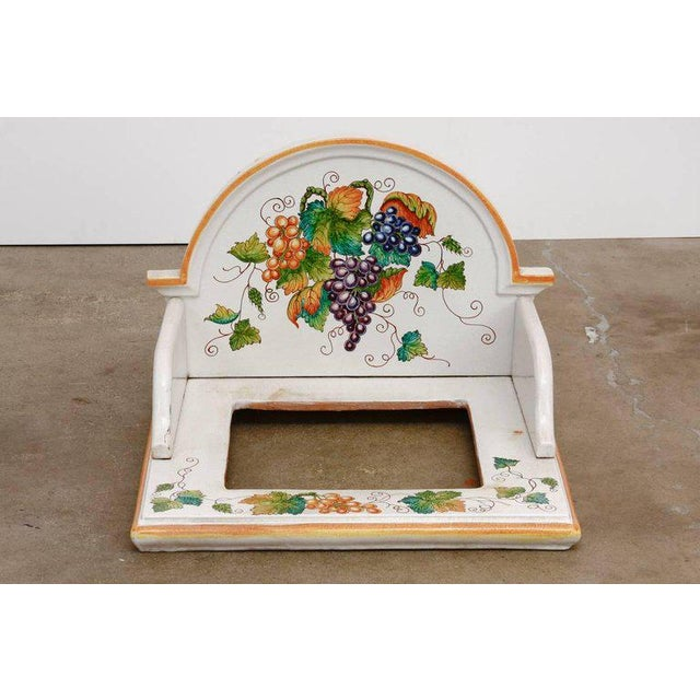 Rustic Italian Pottery Ceramic Hibachi or Garden Sink Surround For Sale - Image 3 of 13
