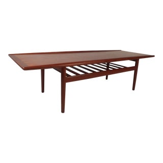 Danish Teak Coffee Table With Shelf by Grete Jalk For Sale