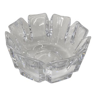 Orrefors Swedish Crystal Bowl For Sale