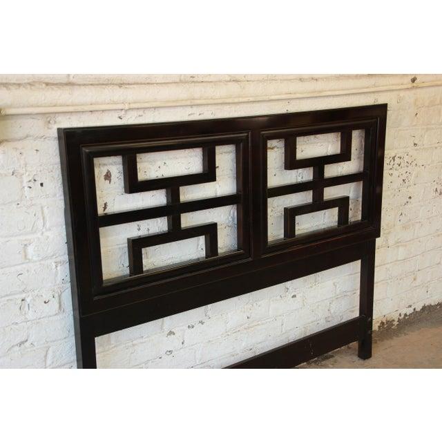 Century Furniture Chin Hua Black Lacquer Full Size Headboard - Image 5 of 6
