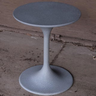 Cast Resin 'Spindle' Side Table, Gray Stone Finish by Zachary A. Design Preview