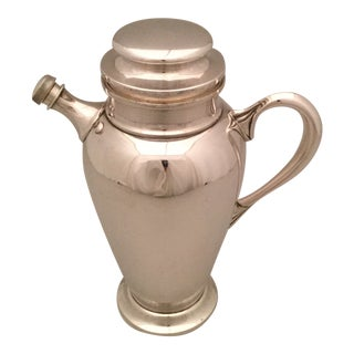 Large American Sterling Cocktail Shaker For Sale
