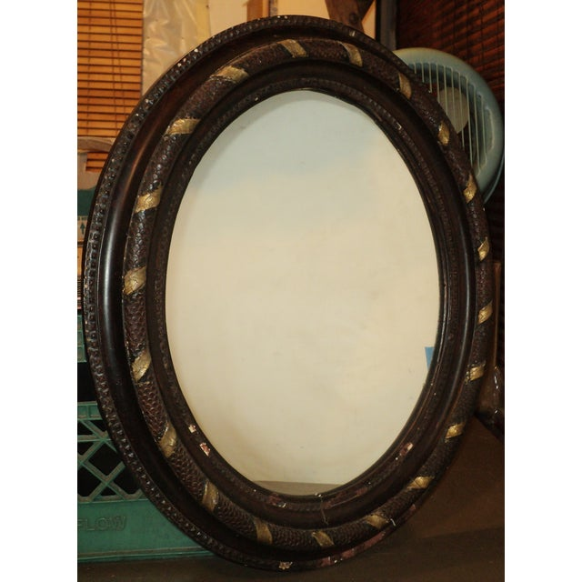 Antique Oval Hanging Mirror - Image 3 of 11
