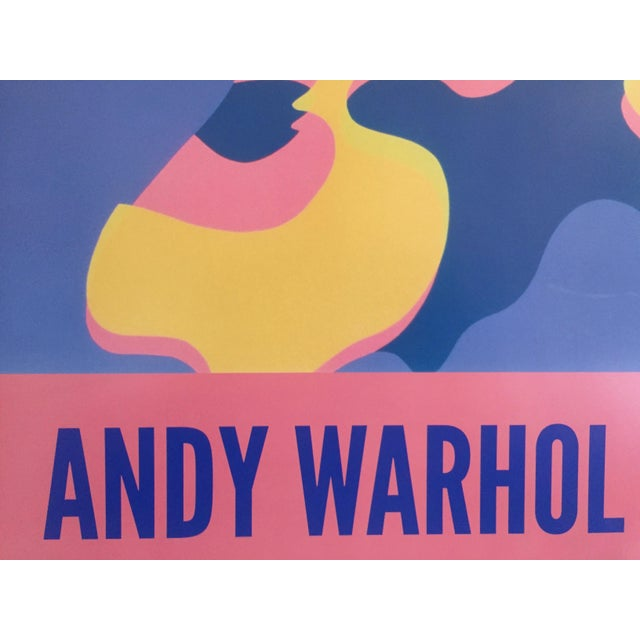 """Blue Andy Warhol Original Lithograph Pop Art Poster """"Pink Camouflage"""" 1987 For Sale - Image 8 of 10"""