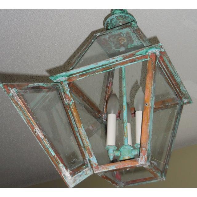 Rustic Copper Hanging Lantern - Image 8 of 10