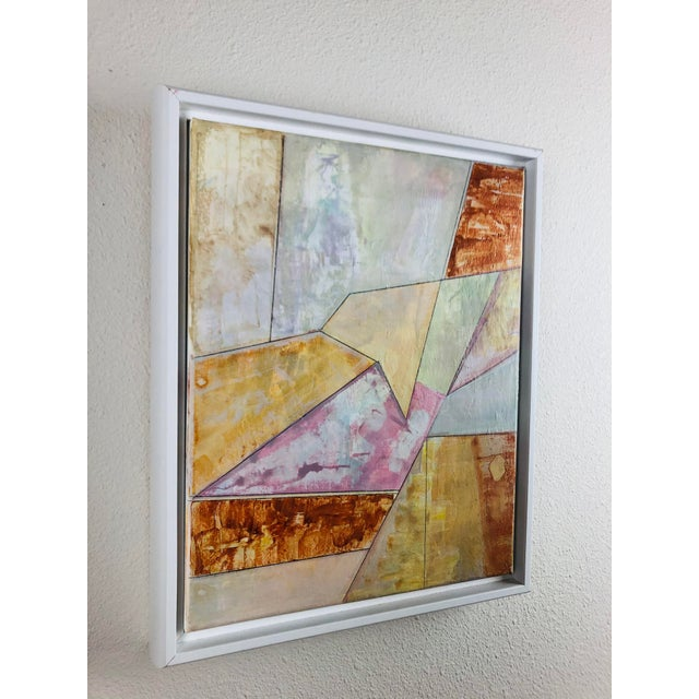 2010s Contemporary Geometric Abstract Acrylic Painting, Framed For Sale - Image 5 of 6