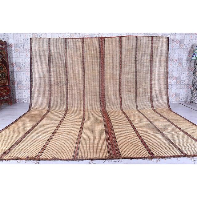 Large Striped Tuareg Mat For Sale - Image 4 of 4