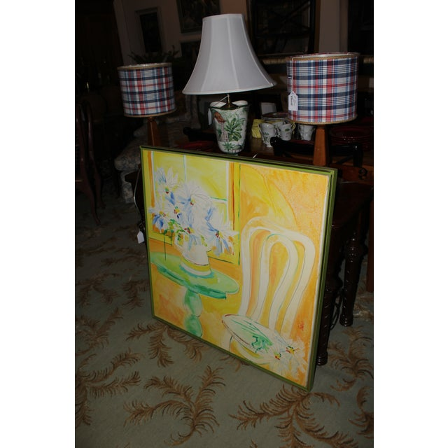 Mid 20th Century Vintage Mid-Century Yellow Still Life Painting For Sale - Image 5 of 12