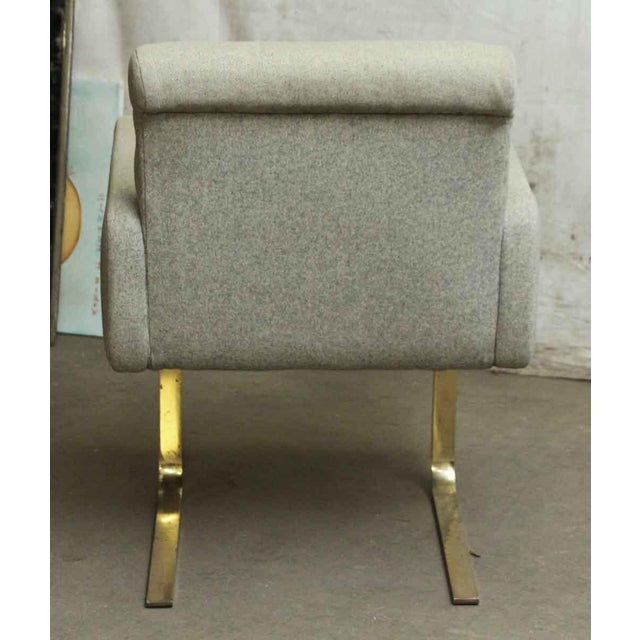 Modern Cream Chair With Two Metal Legs - Image 5 of 5