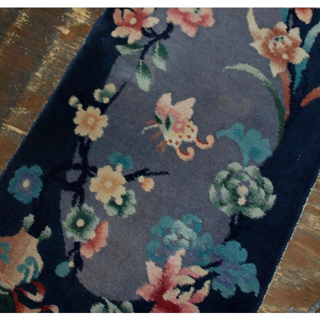 1920s 1920s Antique Art Deco Chinese Rug - 2′ × 3′10″ For Sale - Image 5 of 5