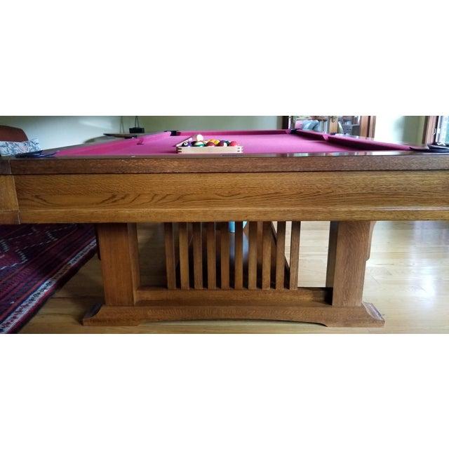 Brunswick Centennial Craftsman Pool Table Chairish - Brunswick mission pool table