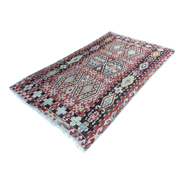 Vintage Anatolian Rug - 5′1″ × 9′3″ For Sale