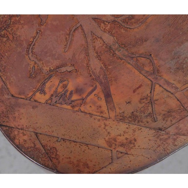 Bernhard Rohne Rare Huge Copper and Mahogany Coffee Table by Bernhard Rohne For Sale - Image 4 of 6