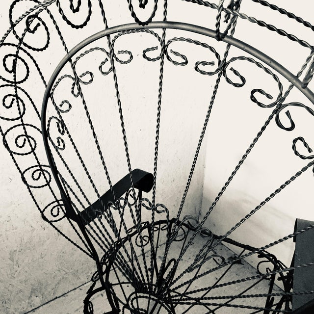 Wrought Iron Peacock Rocking Chair For Sale - Image 6 of 11