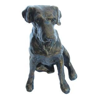 Dessau Brass Bronze Statue of Labrador Retreiver For Sale