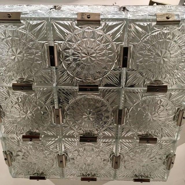 Mid-Century Modern 1960s Czech Bohemian Crystal Flush Pendant For Sale - Image 3 of 10