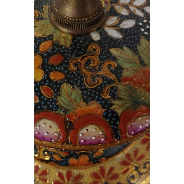 Chinoiserie Vintage Mid-Century Royal Satsuma Lamp For Sale - Image 3 of 8