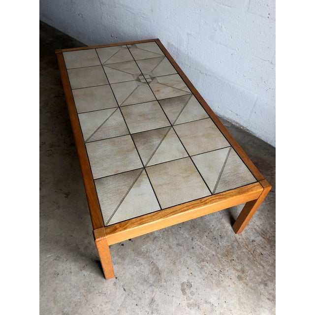 Vintage Mid-Century Danish Modern Tile Top Coffee Table by Gangso Mobler For Sale - Image 10 of 10