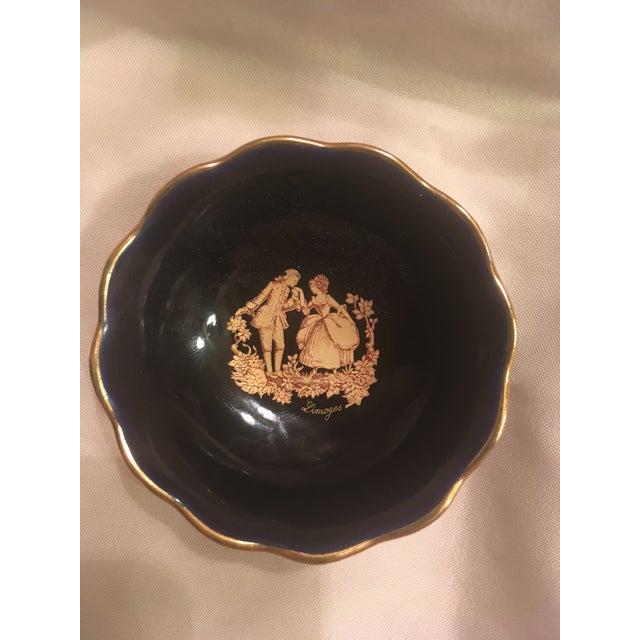 Vintage Cobalt Blue Limoges Pocelain D'Art Vanity Set For Sale - Image 11 of 13