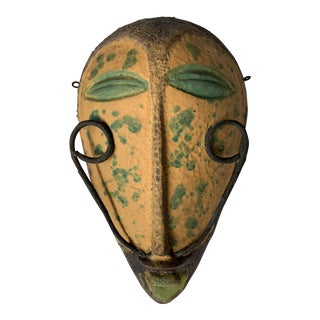 Alvino Bagni Italian Pottery Tribal Mask Wall Sculpture For Sale