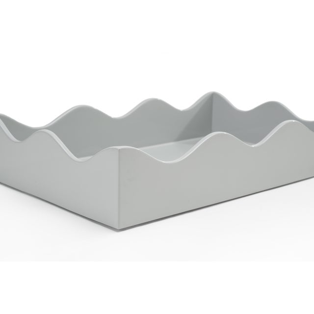 Contemporary Rita Konig Collection Medium Belles Rives Tray in Pale Grey For Sale - Image 3 of 5