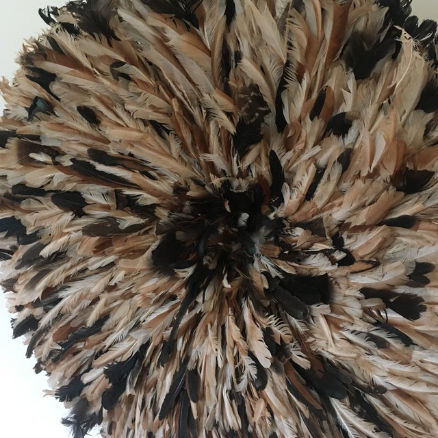 Boho Chic Authentic Cameroon XL Natural Juju Hat Headdress For Sale - Image 3 of 5