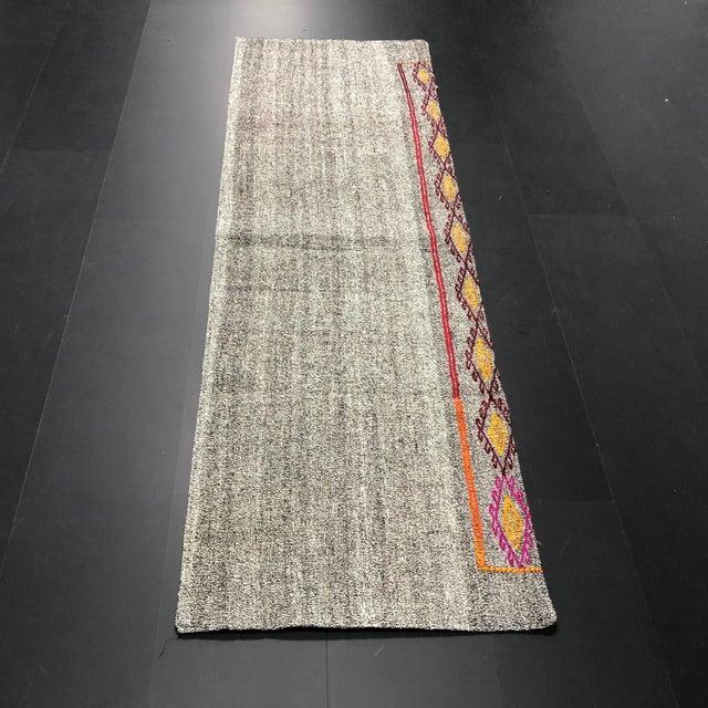 Vintage Turkish Handwoven Aztec Corridor Kilim Rug - 2′3″ × 7′3″ For Sale - Image 11 of 11