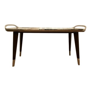 Mid- Century Modern Style Theodore Alexander Tray Cocktail Table For Sale
