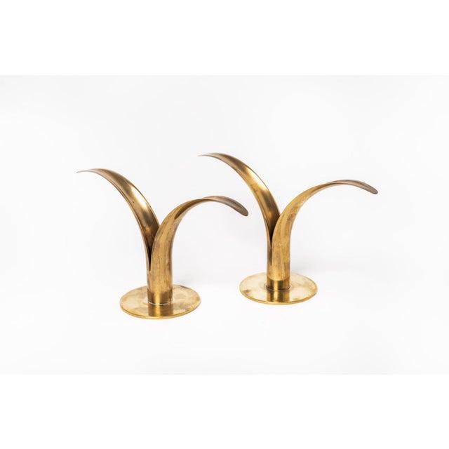 Brass Liljan Lily Ivar Alenius-Bjork Candle Holders For Sale - Image 7 of 11