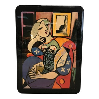 """Vintage Picasso """"Woman with a Book"""" Resin Art Print"""