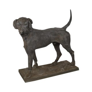 "19th Century Antique J.W. Fiske Zinc ""Morley's Dog"" Statue For Sale"