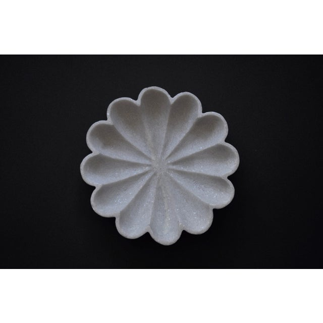 Modern Marble Flower Bowl For Sale - Image 3 of 6