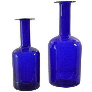 Holmegaard Vases in Two Sizes For Sale