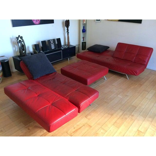"Modern Ligne Roset ""Smala"" Sofa Set & Pillows - Set of 3 For Sale - Image 3 of 8"
