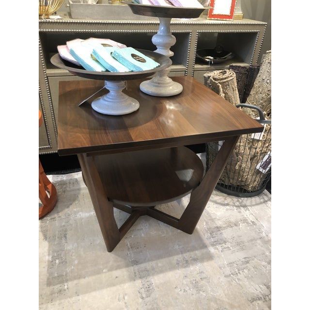 Kenneth Ludwig Chicago Contemporary Borkholder Walnut Aero End Table For Sale - Image 4 of 7