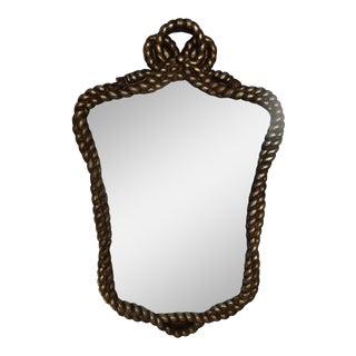 Antique Regency Carved Rope Mirror