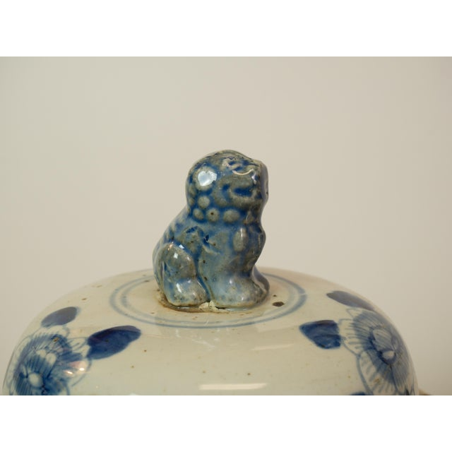 Antique Blue & White Ginger Jars - A Pair - Image 4 of 9
